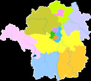 Hengyang - Image: Administrative Division Hengyang