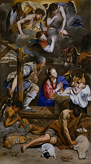 Juan Bautista Maíno - Adoration of the shepherds (circa 1613), by Maíno