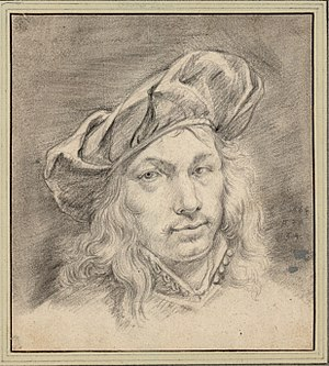 Adriaen van der Cabel - Self-portrait with cap aged 34