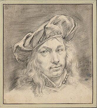 Adriaen van der Cabel - Self-portrait with cap aged 34