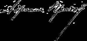Adrian Prakhov - Signature by Adrian Prakhov. 1884