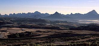 Battle of Adwa - The landscape of Adwa