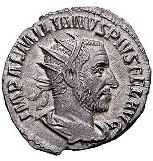 Aemilianus - Coin featuring Aemilian.