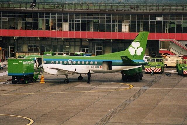 Aer Lingus Dublin Bradley Flight Serving Drinks And Food