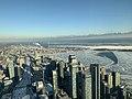 Aerial view of Frozen Toronto Harbour (46965450282).jpg