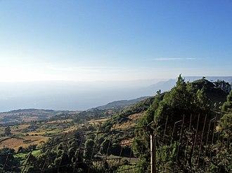 Renewable energy in Africa - The Rift Valley near Eldoret, Kenya