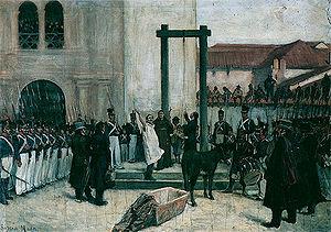3453f9d084be Pedro Domingo Murillo en la plaza de Armas antes de ser ejecutado en 1810.