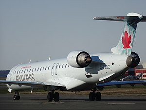 St. John's International Airport - Air Canada Express CRJ705 getting ready to depart for Halifax