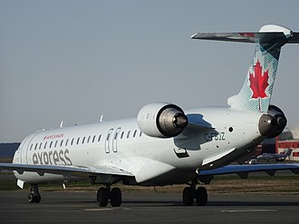 St. John's International Airport - Air Canada Express CRJ900 getting ready to depart for Halifax