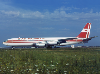 Air Mauritius - A United Kingdom-registered Boeing 707-420 in Air Mauritius livery at Orly Airport in 1978