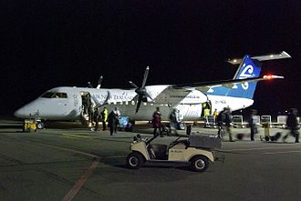Nelson Airport (New Zealand) - An Air New Zealand Link Dash 8 at Nelson in 2012.