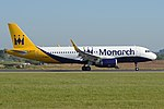 Airbus A320-214(w) 'G-ZBAS' Monarch Airlines (27067802247).jpg