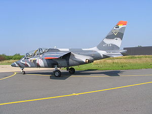 1st Wing (Belgium) - Image: Aircraft Alpha Jet Belge AT 18