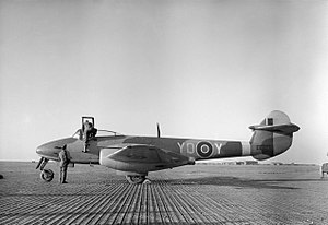 Aircraft of the Royal Air Force, 1939-1945- Gloster Meteor. CL2926.jpg