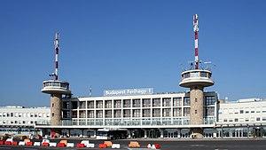 Airport Budapest, Ferihegy, Terminal 1. View f...