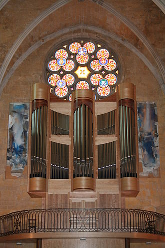 Daniel Kern Manufacture d'Orgues - The baroque-style Kern organ (2006) at the west end of the nave in the Church of Saint-Jean-de-Malte, Aix-en-Provence