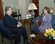Pelosi with former Vice President Al Gore, March 21, 2007