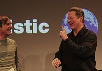 Al Gore reacts to Chris Anderson's question, &...