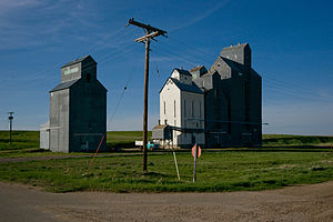 Alamo, North Dakota - The grain elevators in Alamo