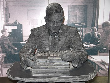 Alan Turing Statue at Bletchley Park - geograp...
