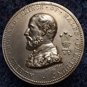 George T. Morgan - Morgan medal depicting the future Edward VII, c. 1875