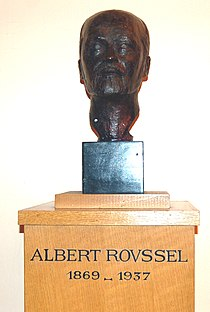 Bust of Roussel in Paris