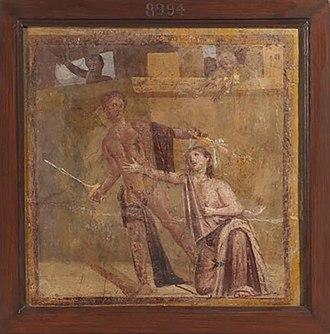 Alcmaeon (mythology) - Alcmaeon killing his mother Eriphyle
