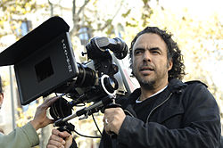 Alejandro González Iñárritu with a camera in production.jpg