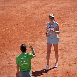 Aleksandra Wozniak - At the 2011 French Open, her first Slam since coming back from injury