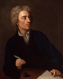 Alexander Pope (c. 1727), penyair Inggris yang menulis Essay on Criticism, The Rape of the Lock dan The Dunciad