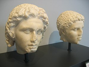 Hephaestion - Alexander, left, and Hephaestion, right. The Getty Villa Museum.