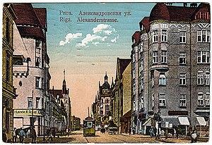 Brīvības iela - Alexanderstraße in 1912