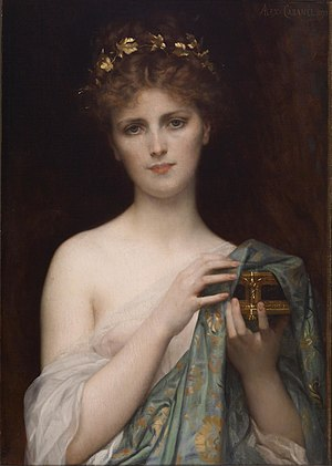 Christina Nilsson - Pandora by Alexandre Cabanel, 1873. Nilsson was the model for this painting.