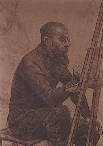 Alexandre Charpentier - Charpentier, by Théo van Rysselberghe