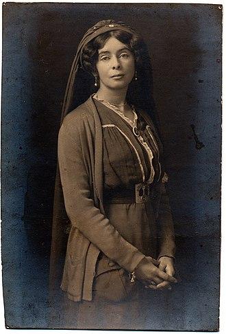 Alice and Claude Askew - Alice Askew in Serbian nurse's uniform, unsigned photograph, c. 1916.