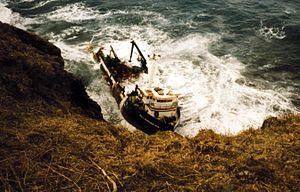 St. George Island (Alaska) - All American shipwreck on St George Island 1996