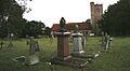 All Saints Theydon Garnon churchyard from the north (Nikon L810).jpg