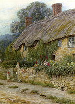 Allingham Helen A Mother And Child Entering A Cottage.jpg