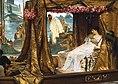 Das Treffen von Antonius und Kleopatra im Jahr 41v.u.Z., Gemälde von Lawrence Alma-Tadema (1885)