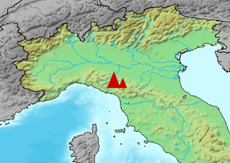 Apuani - Location of the Alpi Apuane in Italy