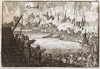 Great Northern War - Danish Altona burned down during Stenbock's campaign (1713). Russian forces retaliated by burning down Swedish Wolgast (same year).