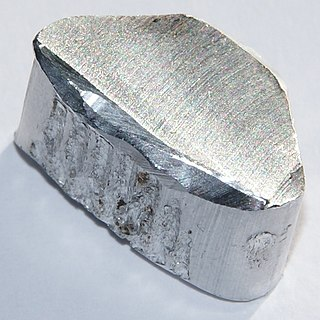 Aluminium Chemical element with atomic number 13