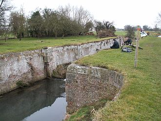 Louth Navigation - Remains of a lock at Alvingham
