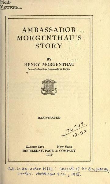 File:Ambassador Morgenthau's Story.djvu