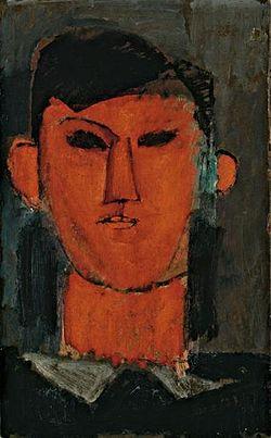 Retrato de Picasso, de Amedeo Modigliani, c. 1915.