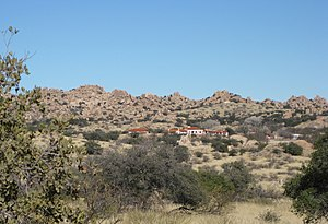 Amerind Foundation - Amerind Foundation, view in Texas Canyon