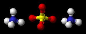 Ammonium sulfate - Image: Ammonium sulfate 3D balls
