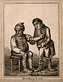 An ill man being bled by his doctor. Coloured etching after Wellcome V0011197EL.jpg