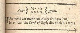 Anagram - Wikipedia, the free encyclopedia