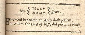 """Anagrammatic poem - Scan of the poem """"Anagram"""" from the 1633 edition of George Herbert's The Temple"""